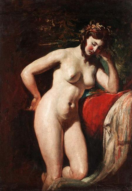 картина Модель в студии ::  Этти Уильям, картина ню, эротика в живописи  - Картины ню, эротика в шедеврах живописи фото