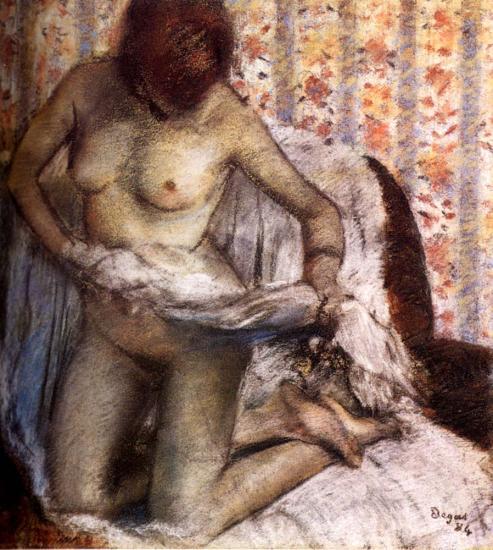 После Ванны :: Эдгар Дега - Картины ню, эротика в шедеврах живописи фото