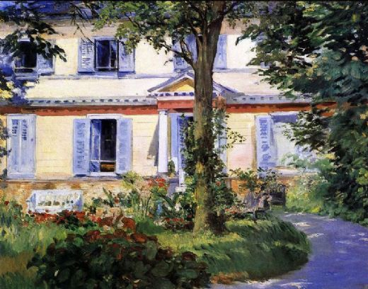 пейзаж Дом в Рюэле :: Эдуард Мане, описание картины - Edouard Manet фото