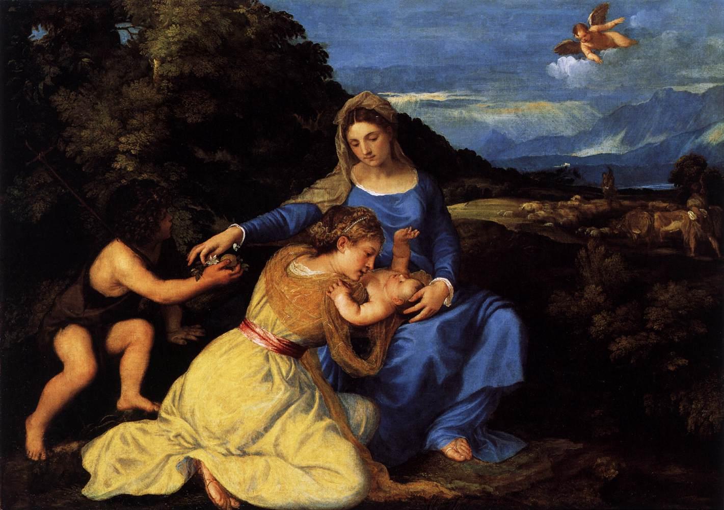Мадонна с младенцем и святыми :: Тициан Вачелио - Tiziano Veccellio фото
