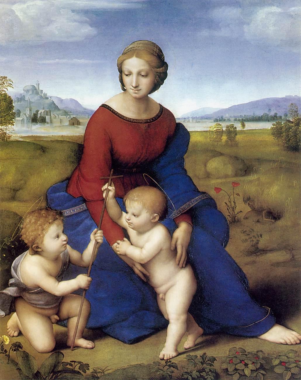 Мадонна Бельведера (Мадонна дель Прато) :: Рафаэль Санти, описание картины - Raffaello Santi фото