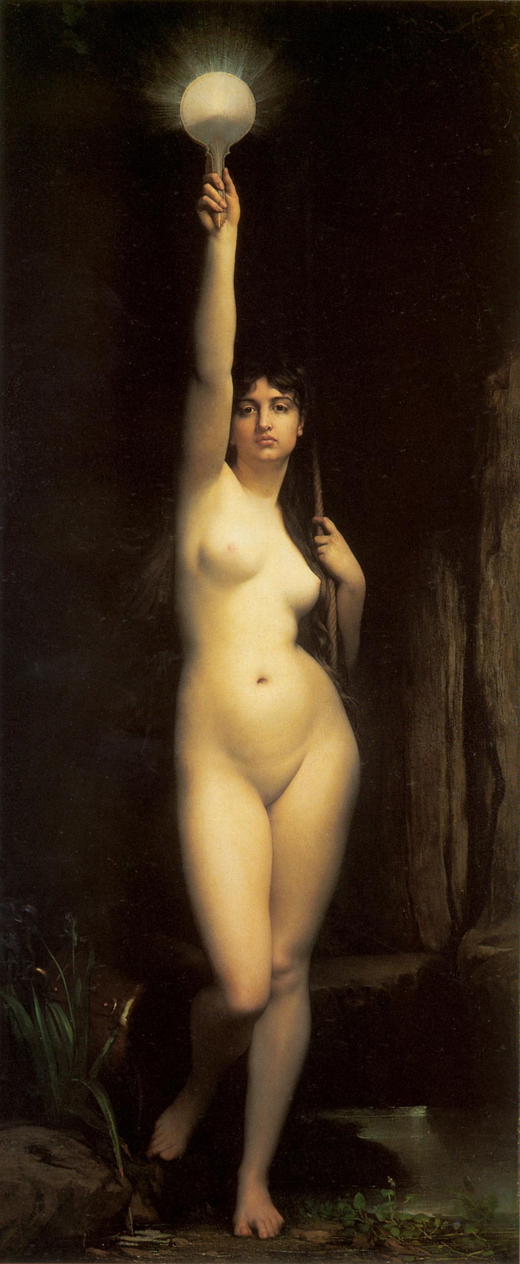 эротическая картина Истина  :: Жюль Жозеф Лефевр - Картины ню, эротика в шедеврах живописи фото