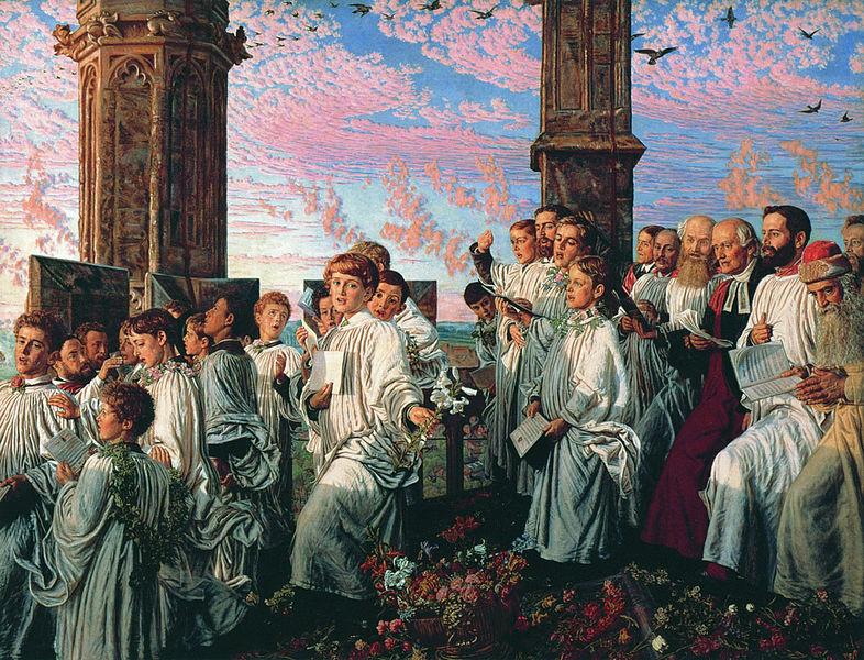 Майское утро на башне Магдален  :: Уильям Холман Хант - Портреты фото
