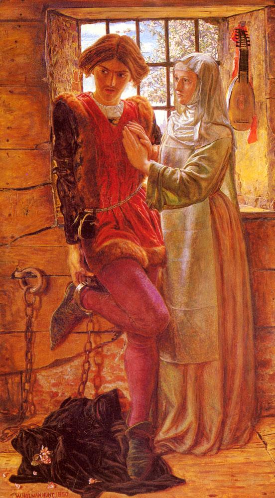 картина Клаудио и Изабелла :: Уильям Холман Хант - Жанровые сцены фото