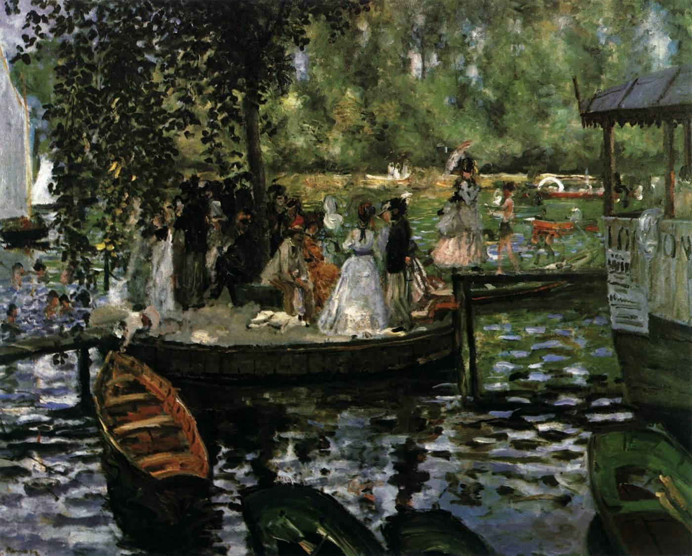 картина «Лягушатник» :: Ренуар Пьер Огюст - Pierre-Auguste Renoir фото