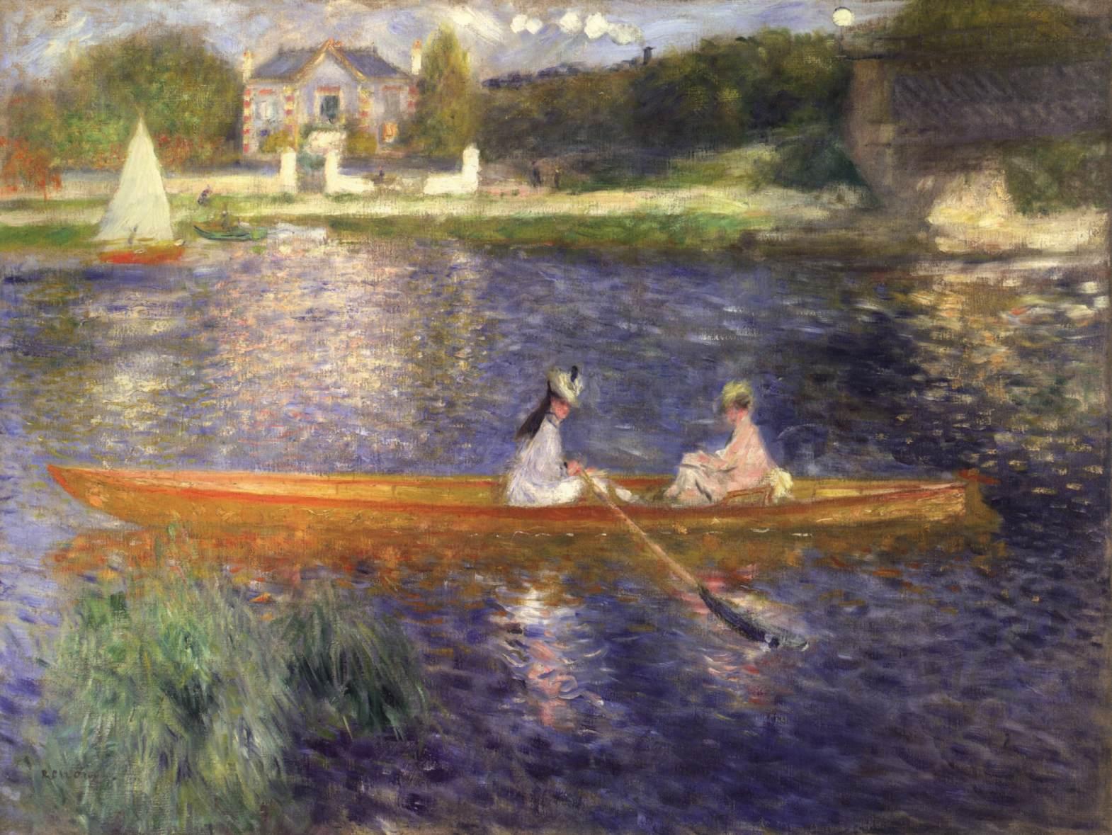 картина речной пейзаж «Скиф» :: Ренуар Пьер Огюст - Pierre-Auguste Renoir фото