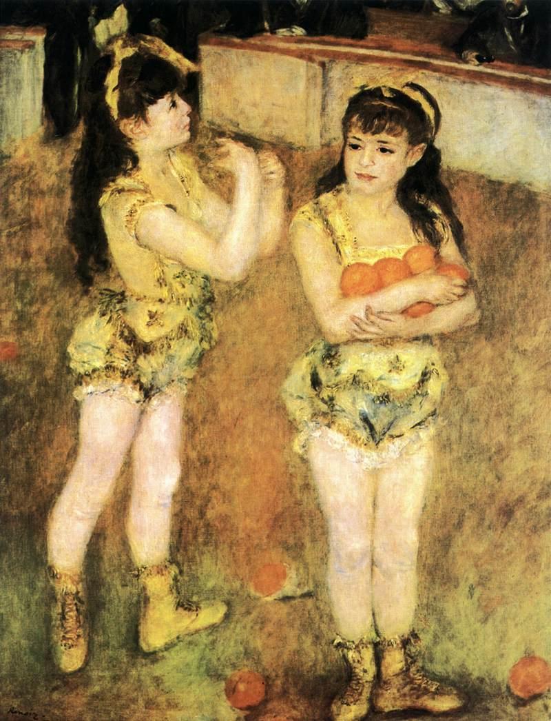 картина Акробаты цирка Фернандо :: Ренуар Пьер Огюст - Pierre-Auguste Renoir фото