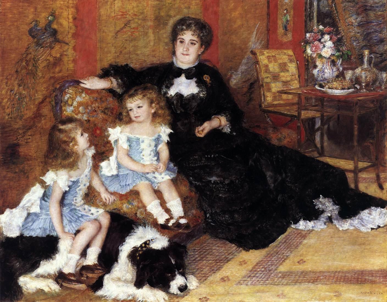 картина Мадам Шарпантье с детьми :: Ренуар Пьер Огюст - Pierre-Auguste Renoir фото