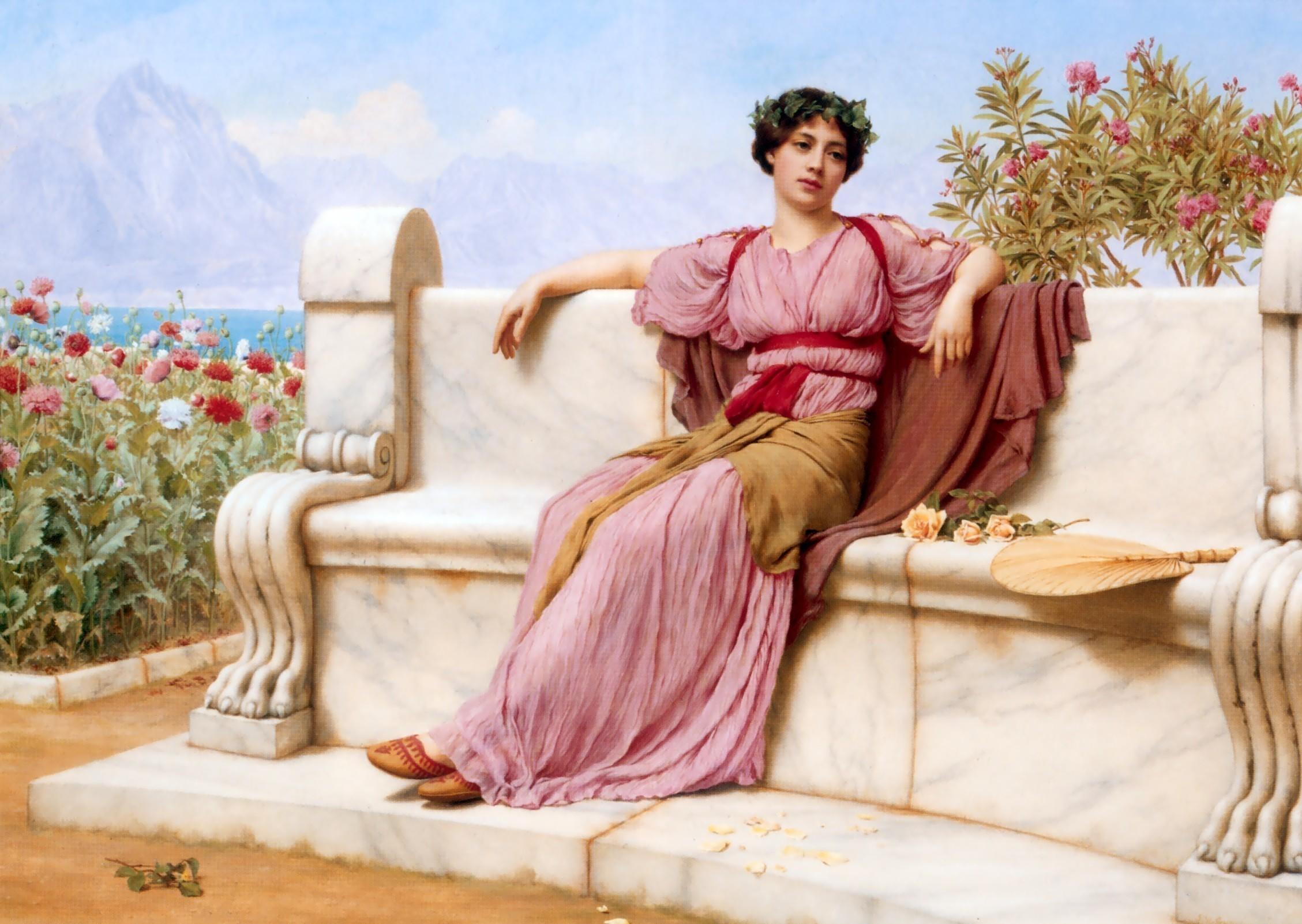 картина Спокойствие (Tranquillity) :: Джон Уильям Годвард - Древний Рим и Греция, Египет фото