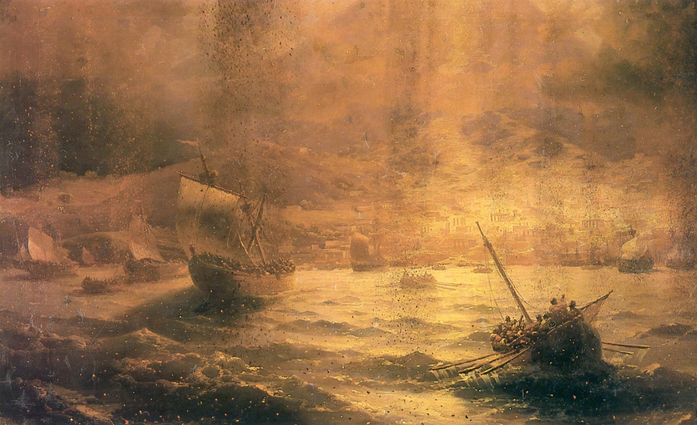 картина Гибель Помпеи :: Айвазовский И. К. - Aivazovsky, Ivan Constantinovich фото
