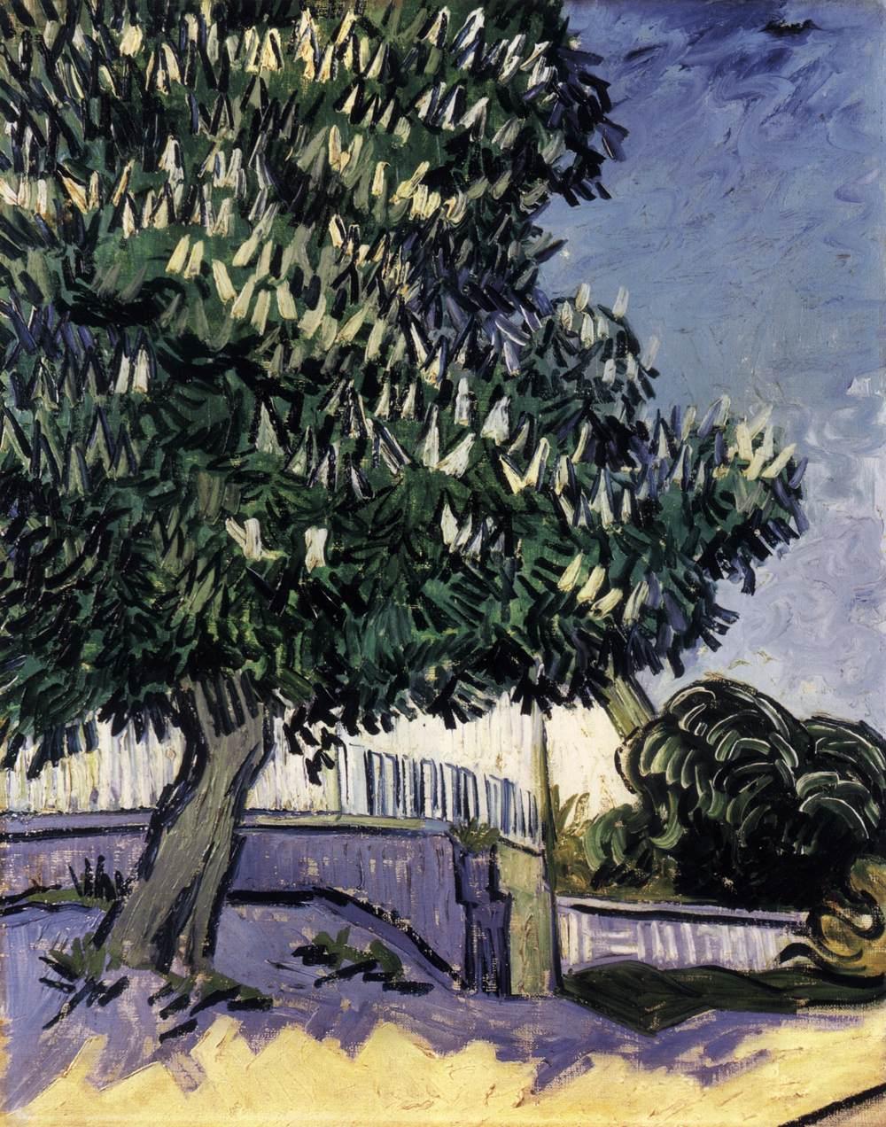 городской пейзаж Каштан в цвету :: Винсент Ван Гог - Van Gogh фото