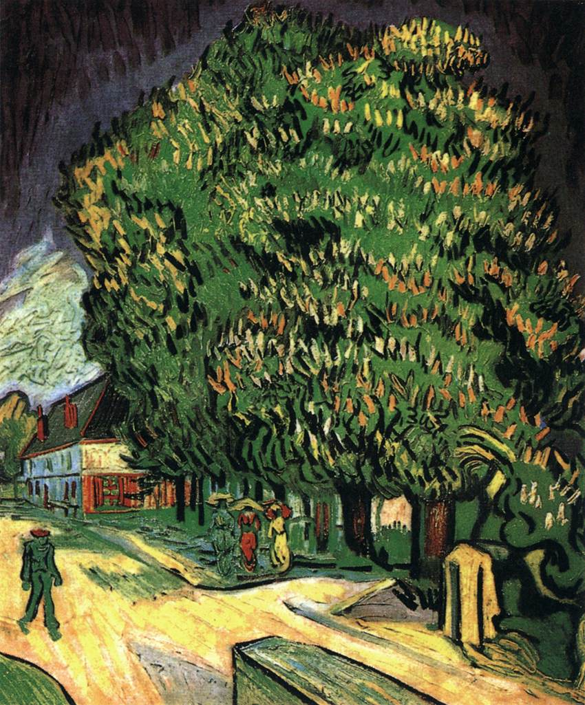 городской пейзаж Каштановые деревья в цвету :: Винсент Ван Гог - Van Gogh фото