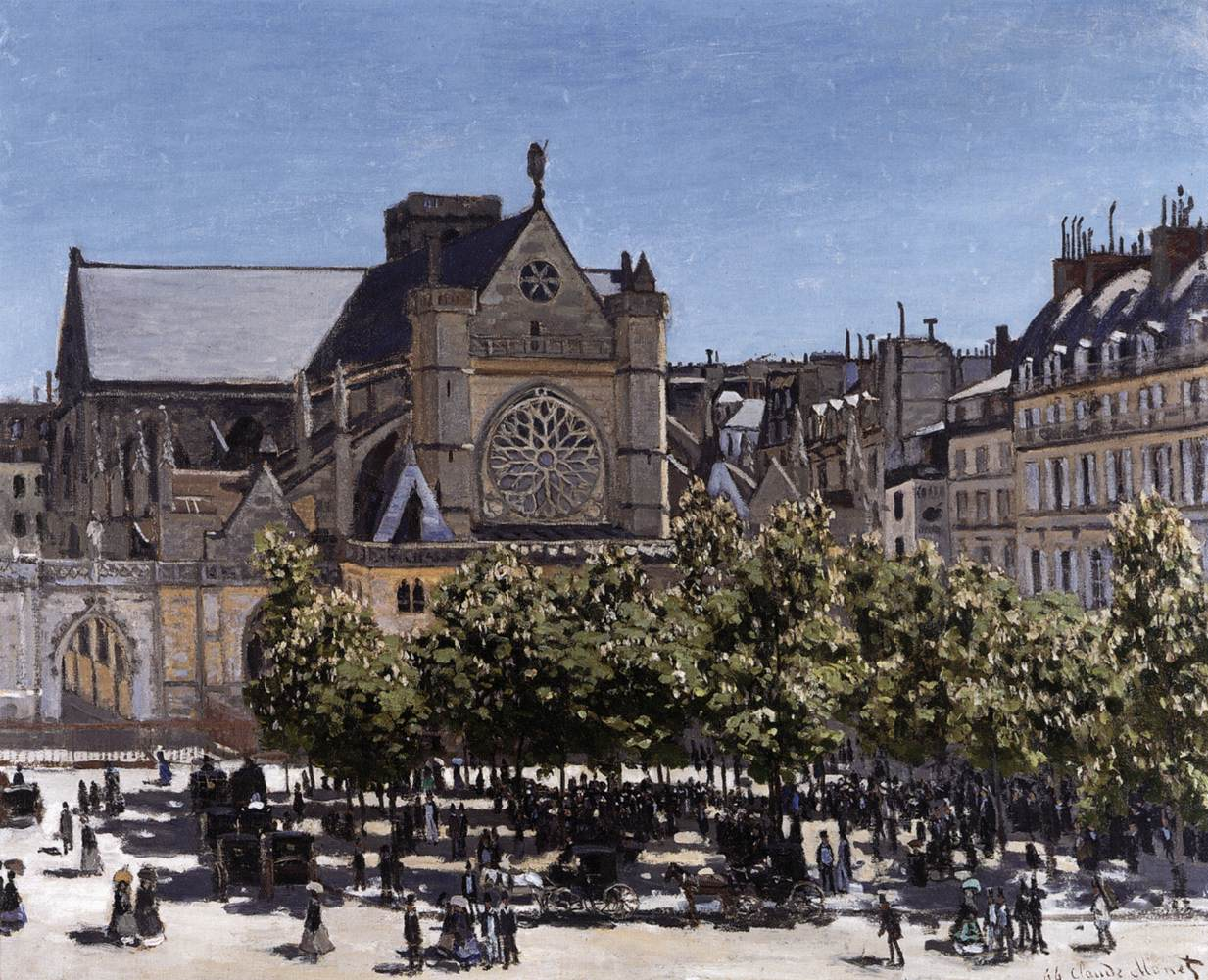 Церковь в Сен-Жермен-л'Оксеруа :: Клод Моне - Claude Monet фото