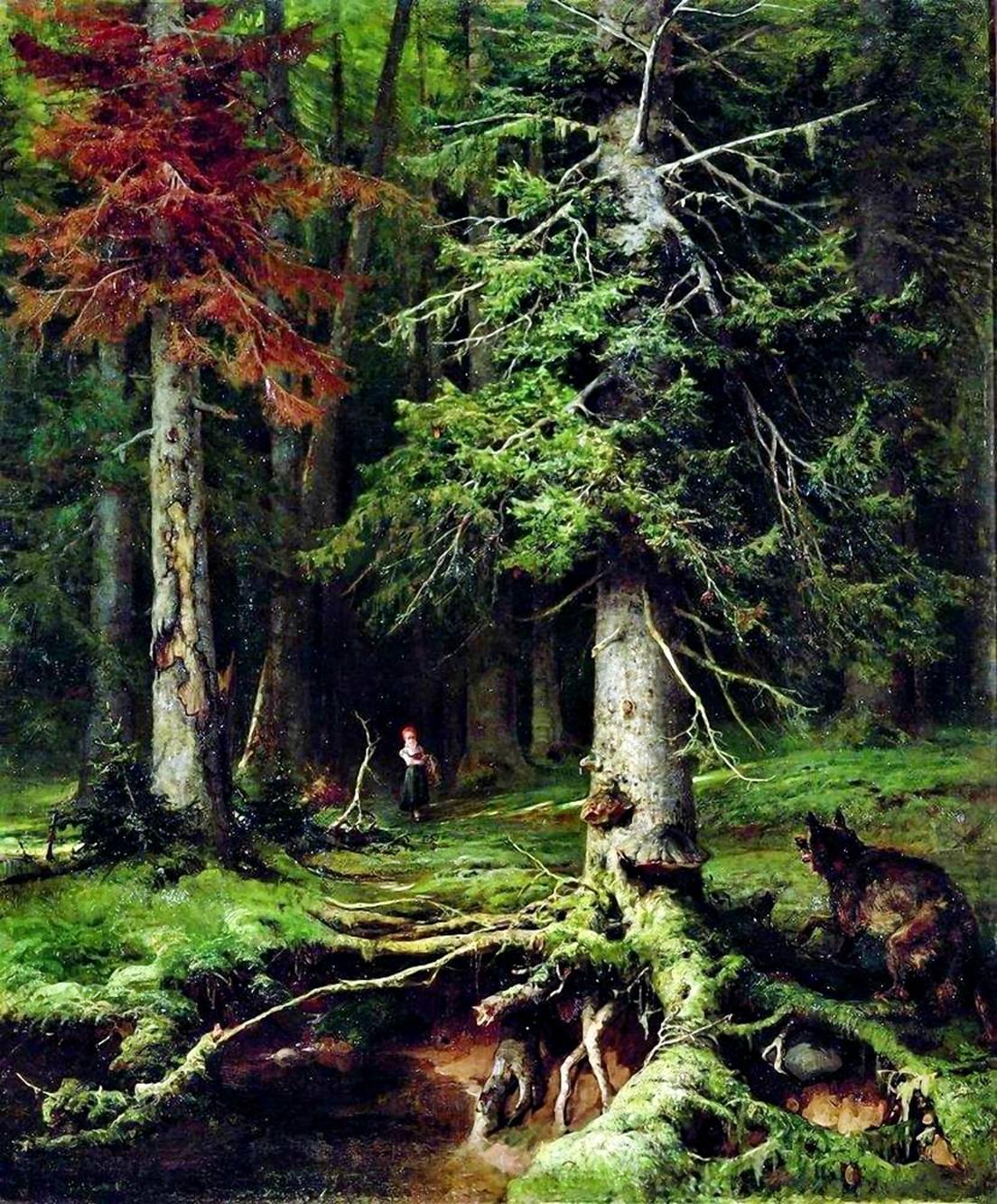 Красная шапочка в лесу :: Клевер Ю.Ю. - Klever Yuliy фото