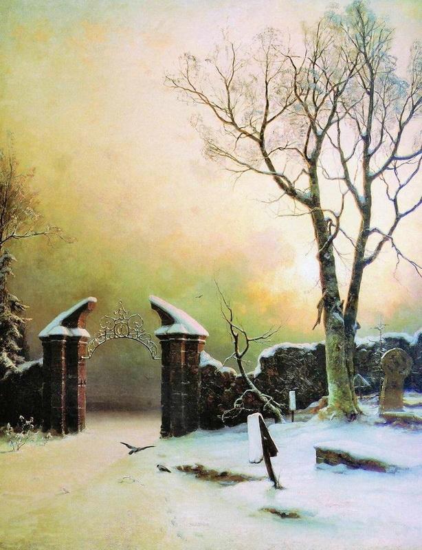 картина Забытое кладбище :: Клевер Ю.Ю. - Klever Yuliy фото