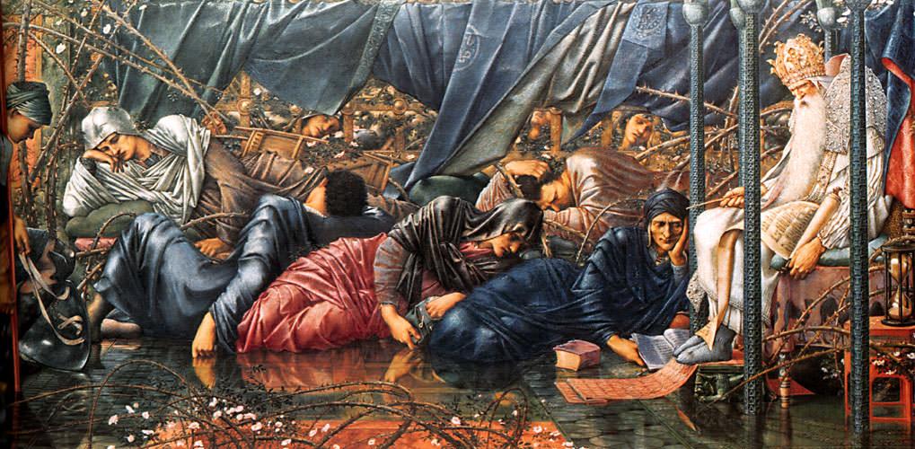 Палата Совета :: Эдуард Берн Джонс, описание картины - Edward Coley Burne-Jones фото