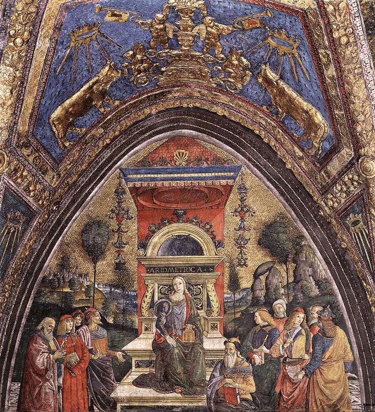 фреска Арифметика :: Зайзенеггер, Якоб - Фрески, монументальная живопись, роспись стен фото