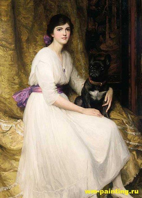 портрет племянницы художника Дороти, Фрэнк Дикси - Dicksee, Sir Frank Bernard фото