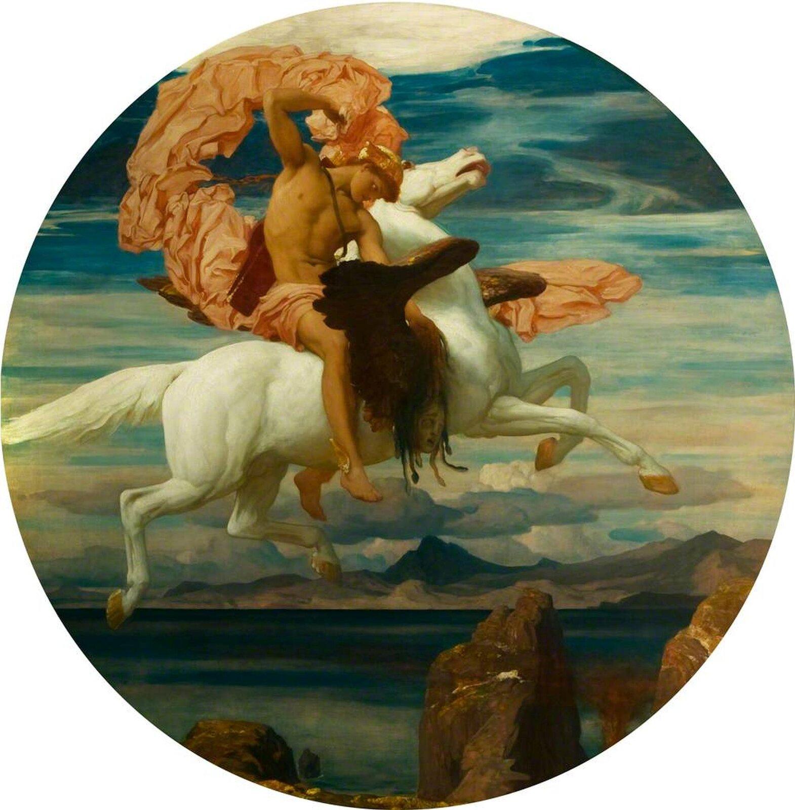 Персей на Пегасе спешит спасать Андромеду - Лейтон Фредерик фото