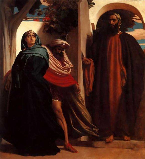 Иезавель и Ахав  :: Лейтон Фредерик, описание картин - Leighton, Frederick фото