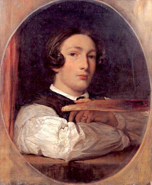 Автопортрет ( Лейтон в юности ) :: Лейтон Фредерик, описание картины - Leighton, Frederick фото
