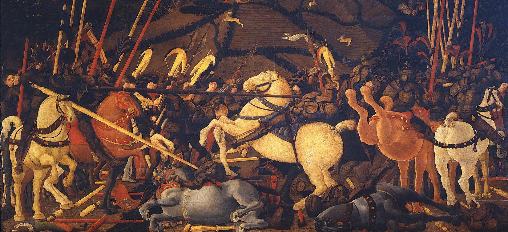 картина Бернардино Делла Сиарда падает с  лошади, Учелло - Учелло Паоло (Paolo Uccello) фото