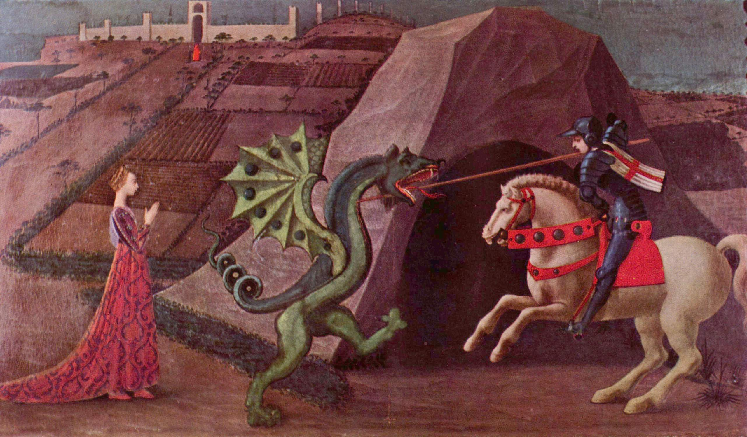 Святой Георгий и Дракон - Учелло Паоло (Paolo Uccello) фото
