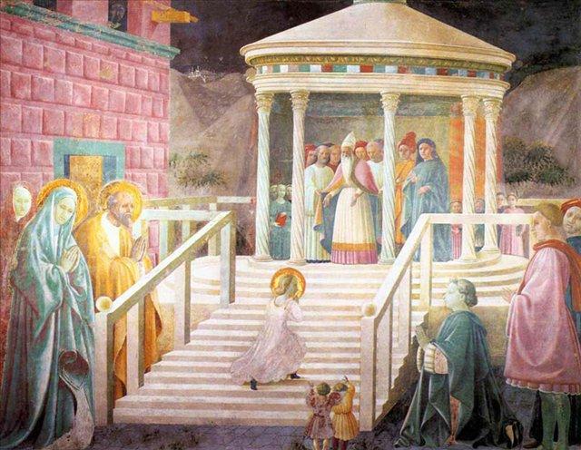 Представление Марии в храме - Учелло Паоло (Paolo Uccello) фото
