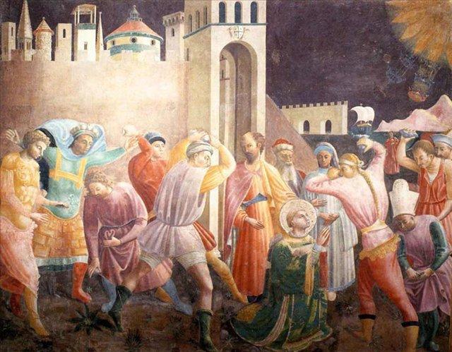 Побивание камнями св. Стефана - Учелло Паоло (Paolo Uccello) фото