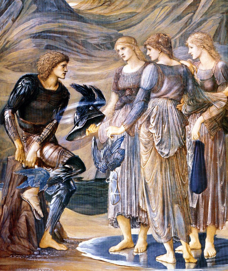 Персей и морские нимфы - Берн-Джонс, Эдуард фото