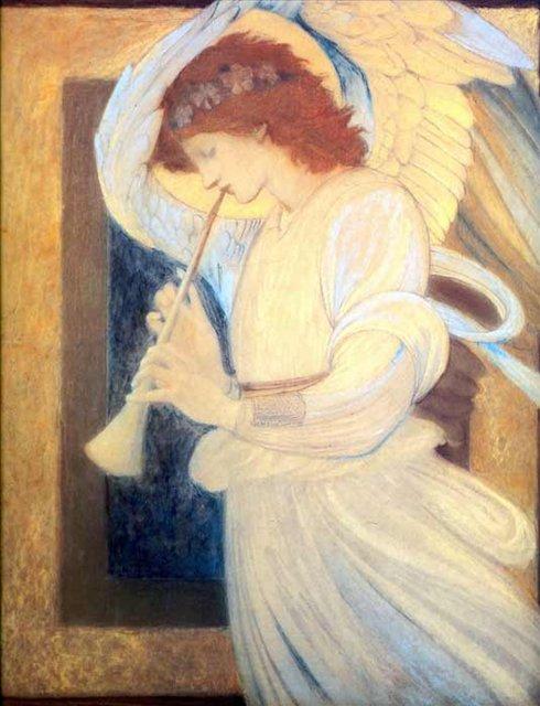 Ангел, играющий на флажолет :: Бёрн-Джонс Эдуард  - Edward Coley Burne-Jones фото