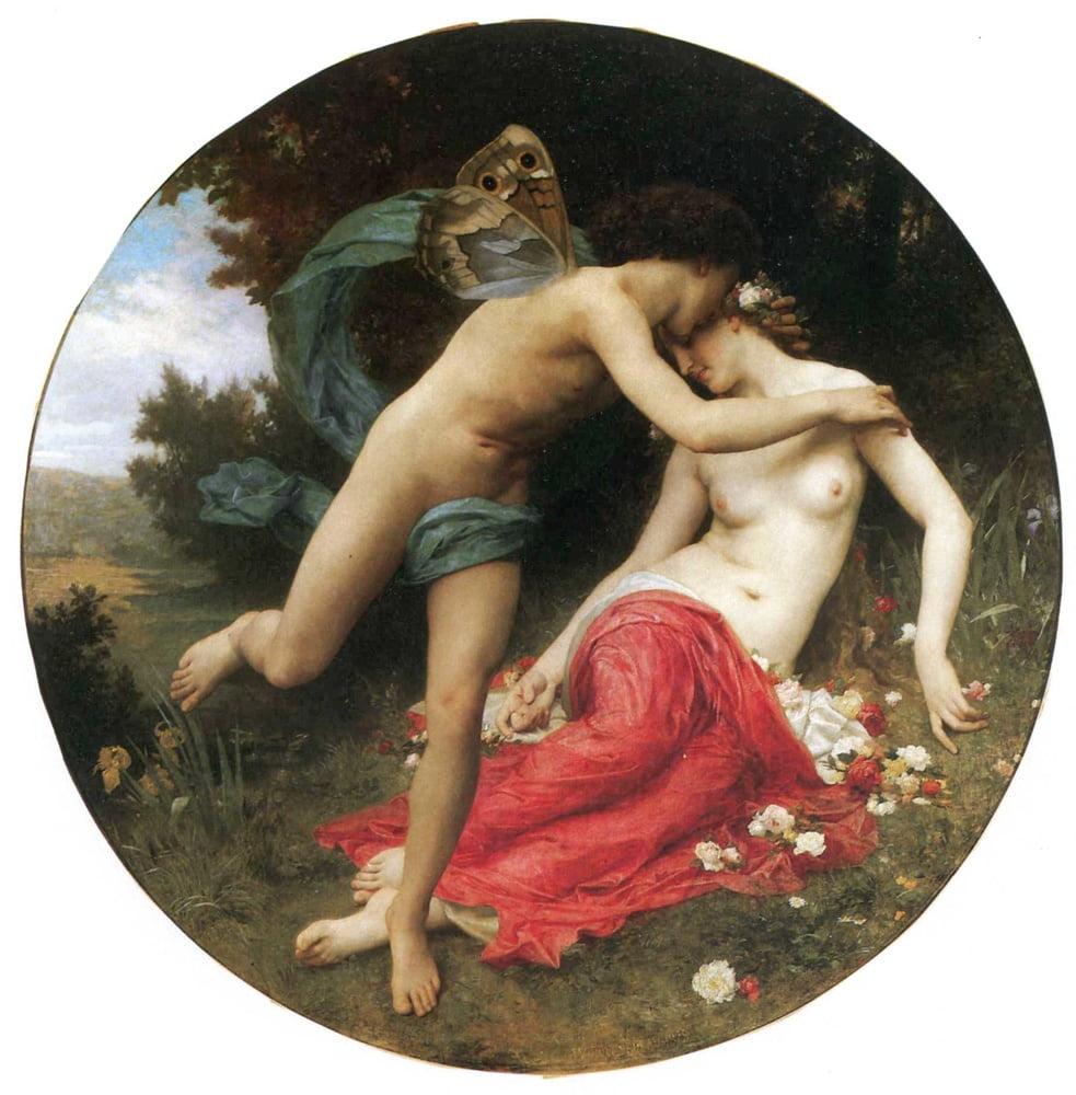 Флора и Зефир, Адольф Бугеро, описание картины  - Adolphe William Bouguereau фото