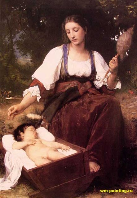 картина Колыбельная, Адольф Бугеро, описание - Бугеро Адольф фото