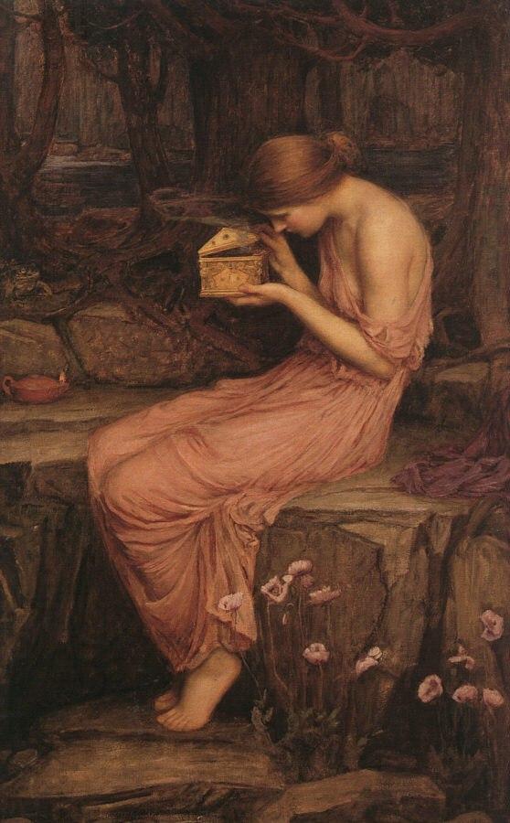 Психея, открывающая ларец :: Джон Уйльям Вотерхауз ( Англия ) - Античная мифология фото