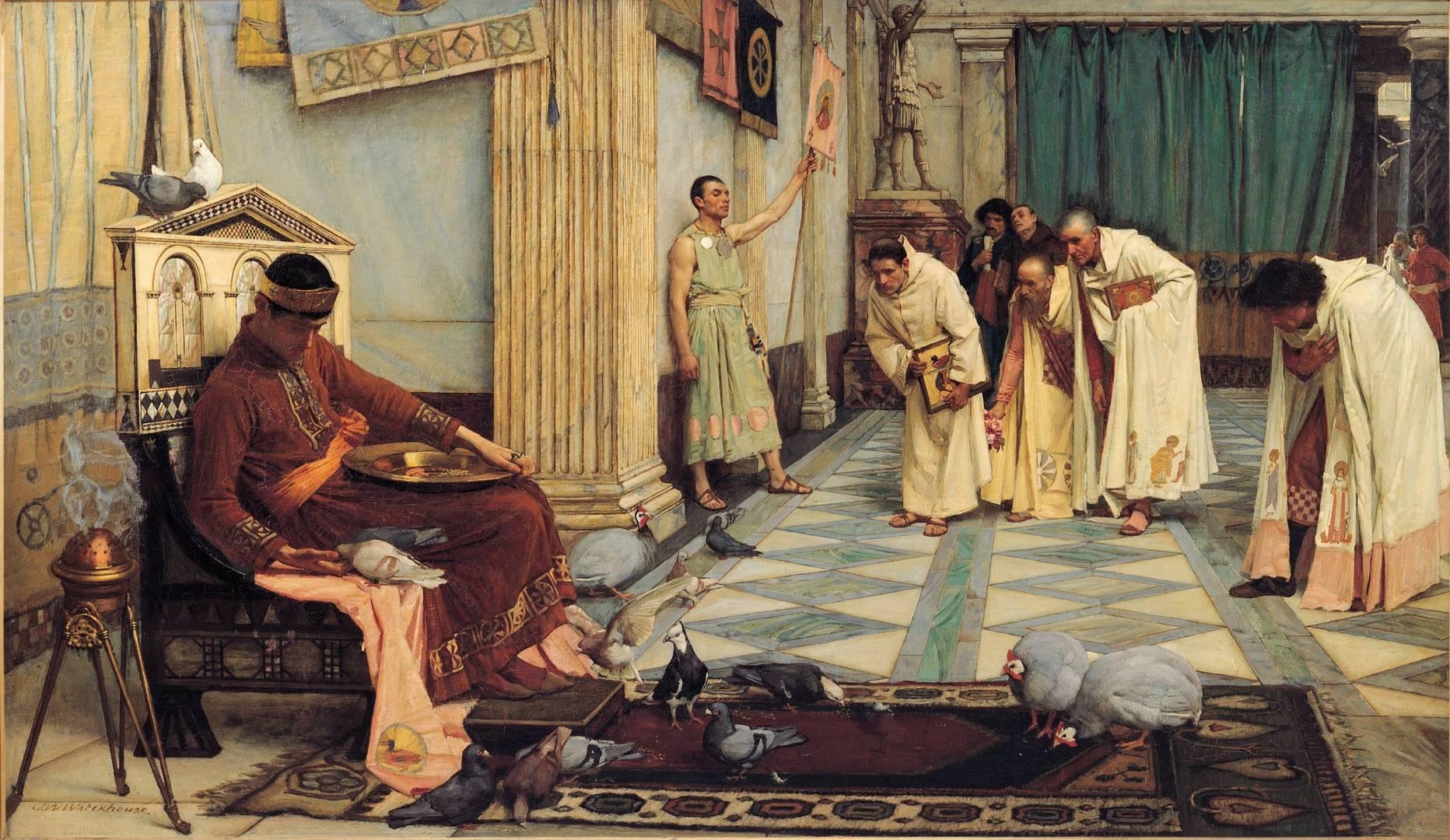 картина <Фавориты императора> ::  Джон Уйльям Вотерхауз - Древний Рим и Греция, Египет фото