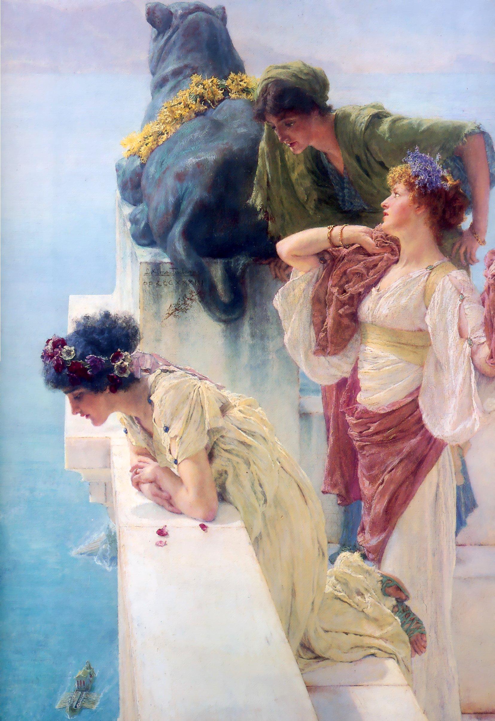 картина <Выгодная позиция> :: Альма-Тадема, плюс статья Какой оригинальный подарок подарить подруге в день 8 марта - Lourens Alma Tadema (Альма-Тадема) фото