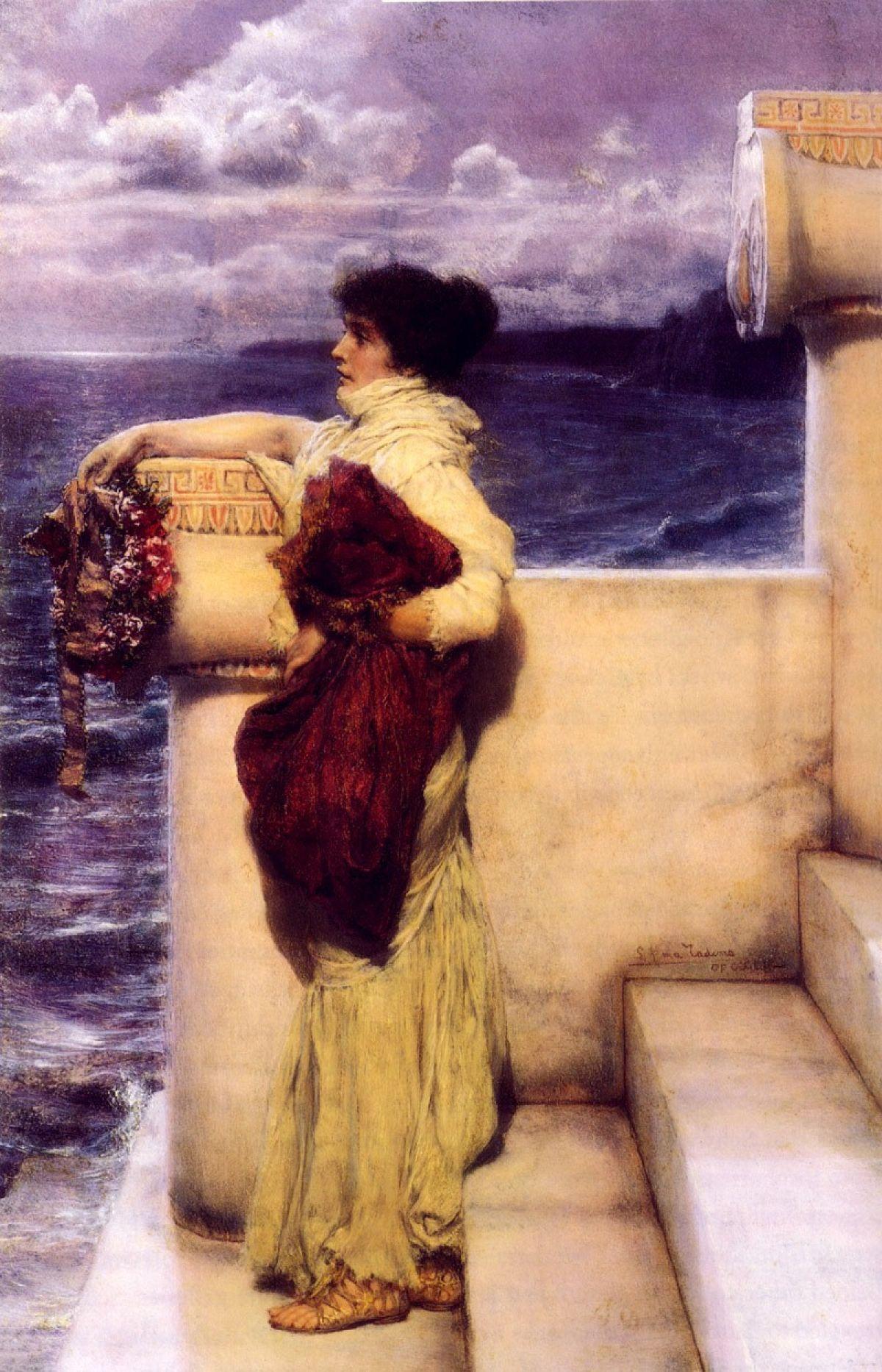 Герой, Альма-Тадема сэр Лоуренс - Море в живописи ( морские пейзажи, seascapes ) фото