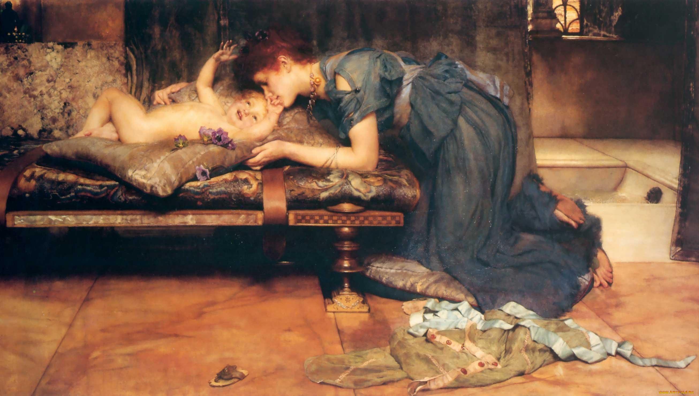 картина <Земной Рай> :: Альма-Тадема Сэр Лоуренс, плюс стать про подарки - Lourens Alma Tadema (Альма-Тадема) фото