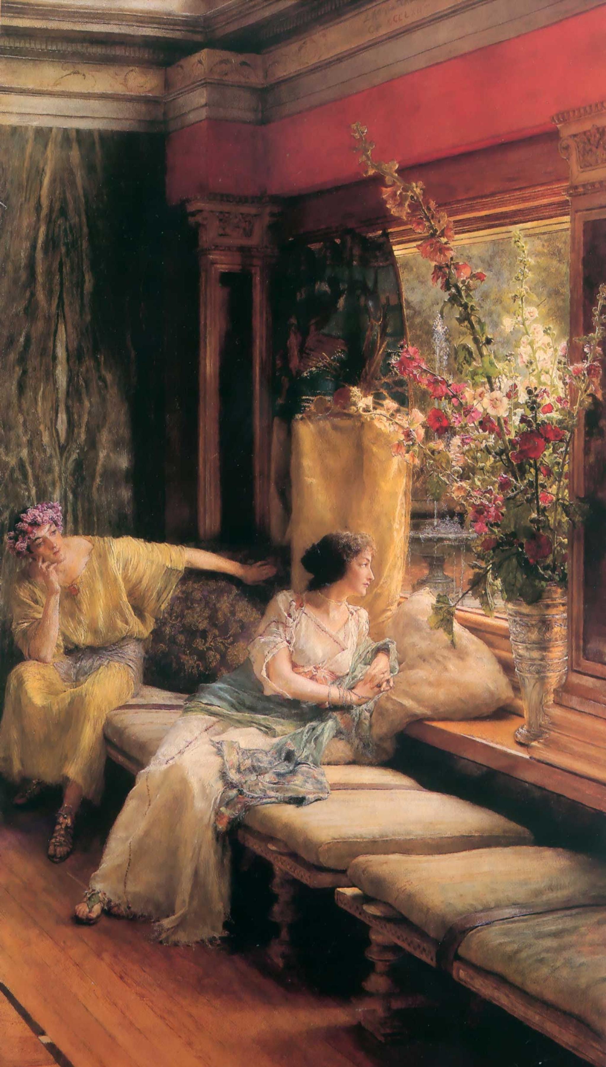 картина <Тщетное Ухаживание> :: Альма-Тадема - Lourens Alma Tadema (Альма-Тадема) фото