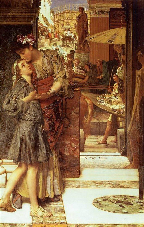 картина <Рим. Прощальный поцелуй> :: Альма-Тадема Сэр Лоуренс - Lourens Alma Tadema (Альма-Тадема) фото