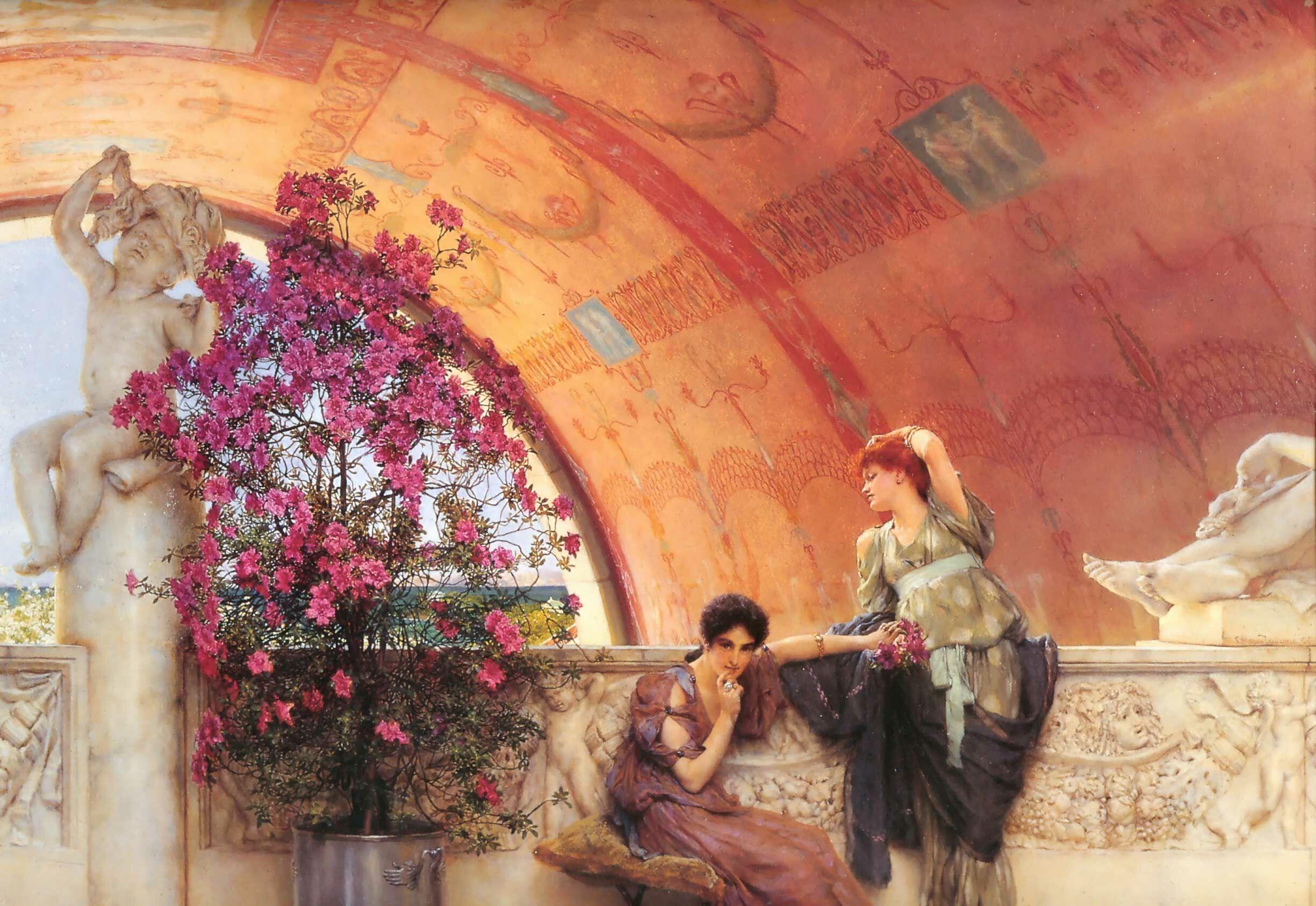 картина <Неосознанная конкуренция> :: Альма-Тадема Сэр Лоуренс - Lourens Alma Tadema (Альма-Тадема) фото