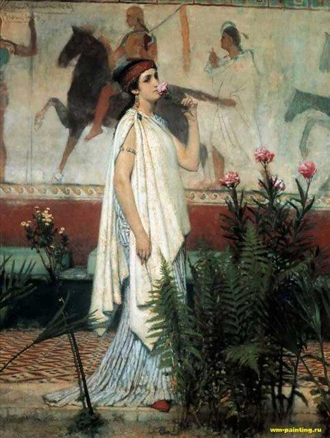 картина <Греческая женщина> :: Альма-Тадема, сэр Лоренс - Древний Рим и Греция, Египет фото