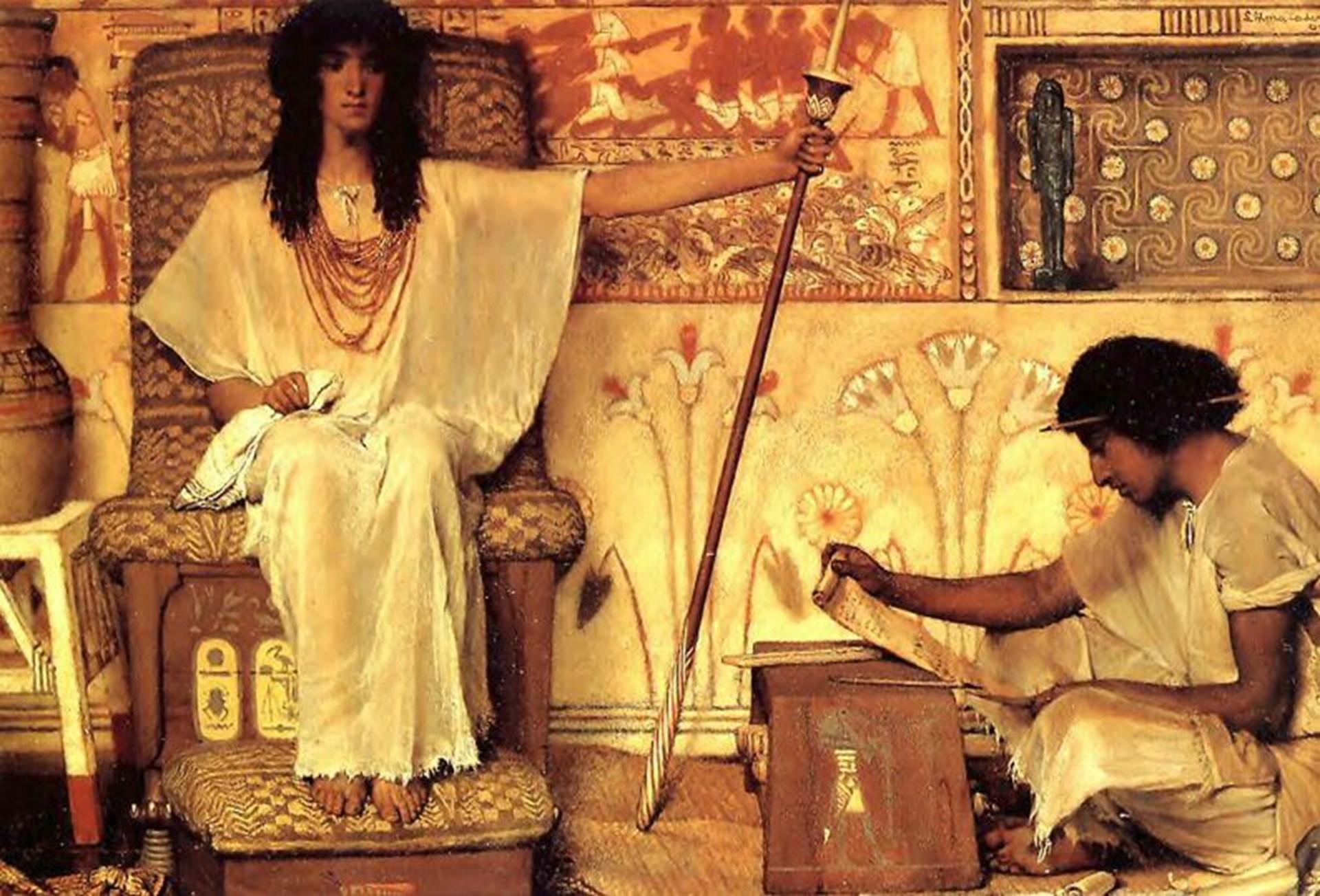 картина Иосиф - надзиратель зернохранилищ фараона :: Альма-Тадема - Lourens Alma Tadema (Альма-Тадема) фото
