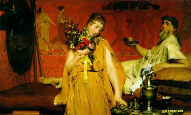 картина Между страхом и надеждой ::  Альма-Тадема сэр Лоуренс - Древний Рим и Греция, Египет фото