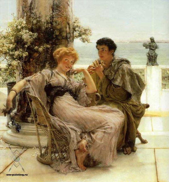 картина Предложение, Альма-Тадема сэр Лоуренс - Романтические сюжеты в живописи фото