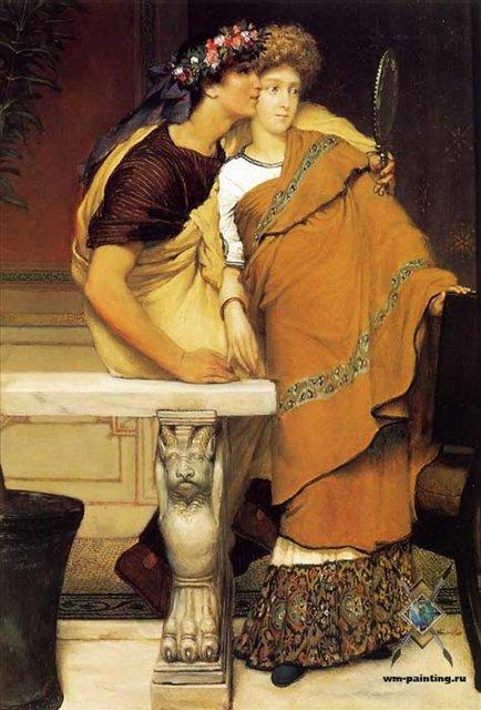картина Медовый месяц, Альма-Тадема сэр Лоуренс - Романтические сюжеты в живописи фото