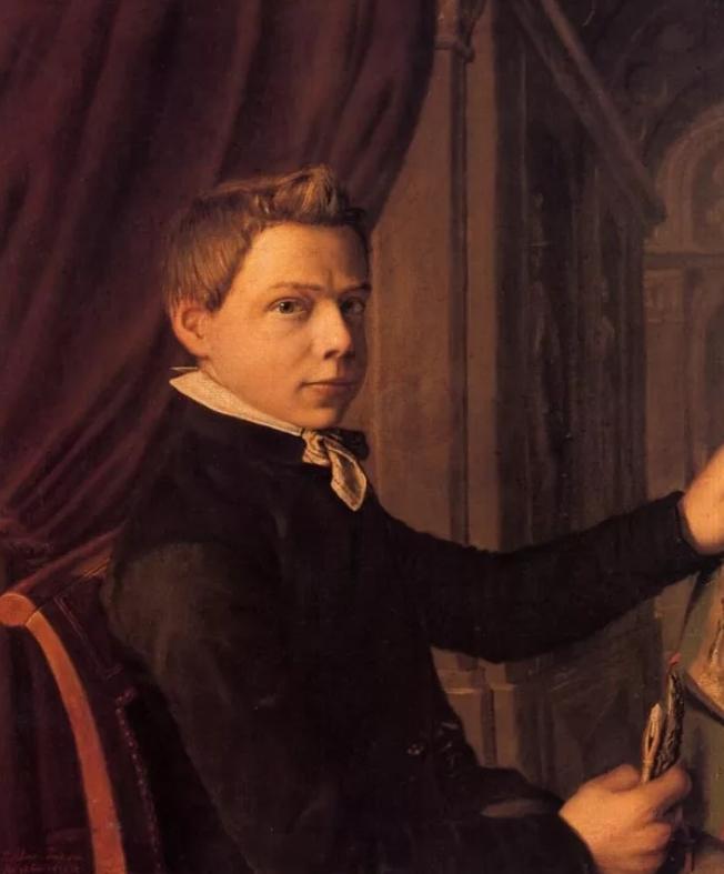 Альма-Тадема, автопортрет в юности - Lourens Alma Tadema (Альма-Тадема) фото