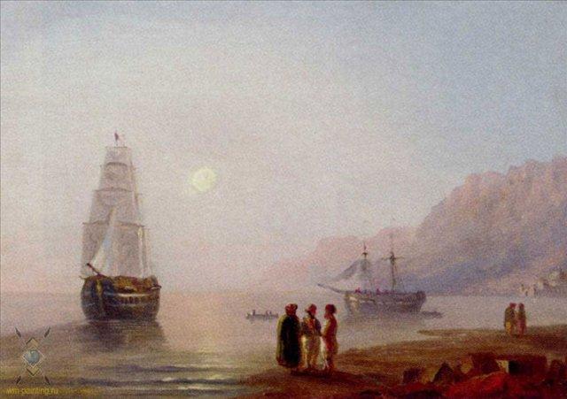 Разговор на берегу :: Айвазовский И.К. - Море в живописи ( морские пейзажи, seascapes ) фото