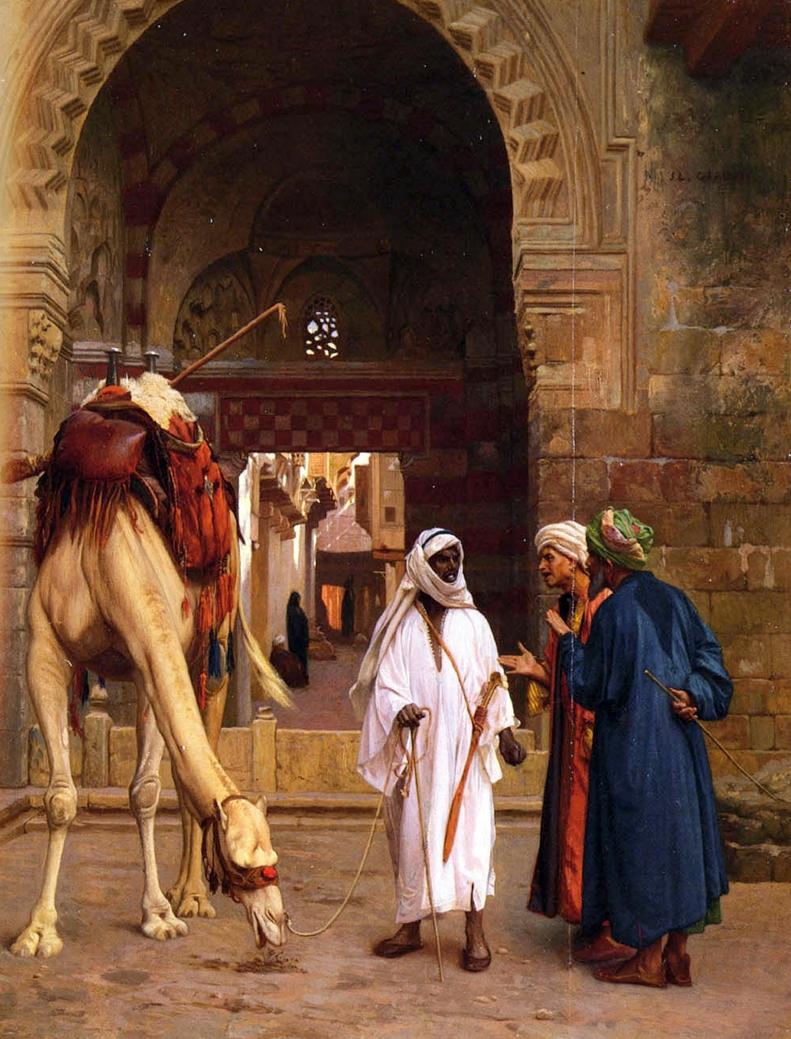 картина Спор арабов :: Жером Жан Леон - Арабский восток фото