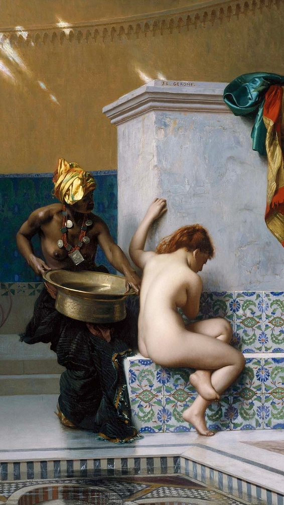картина Турецкие бани :: Жероме Жан Леон - Картины ню, эротика в шедеврах живописи фото